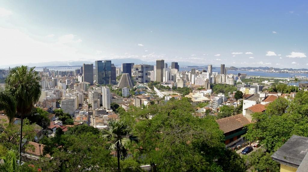 Vue sur le quartier du Centro de Rio