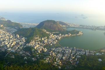Vue du haut de la colline du Corcovado