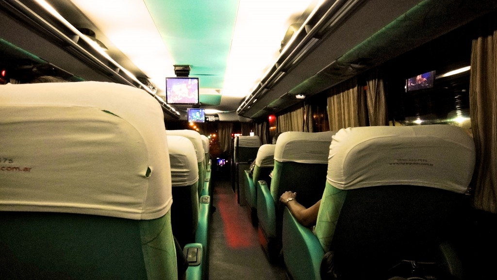 A l'intérieur d'un bus cama en Argentine