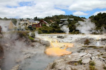 Kia Ora sur les volcans de l'île du nord de la Nouvelle-Zélande