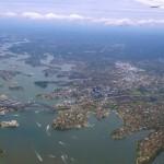 Baie de Sydney vue du ciel