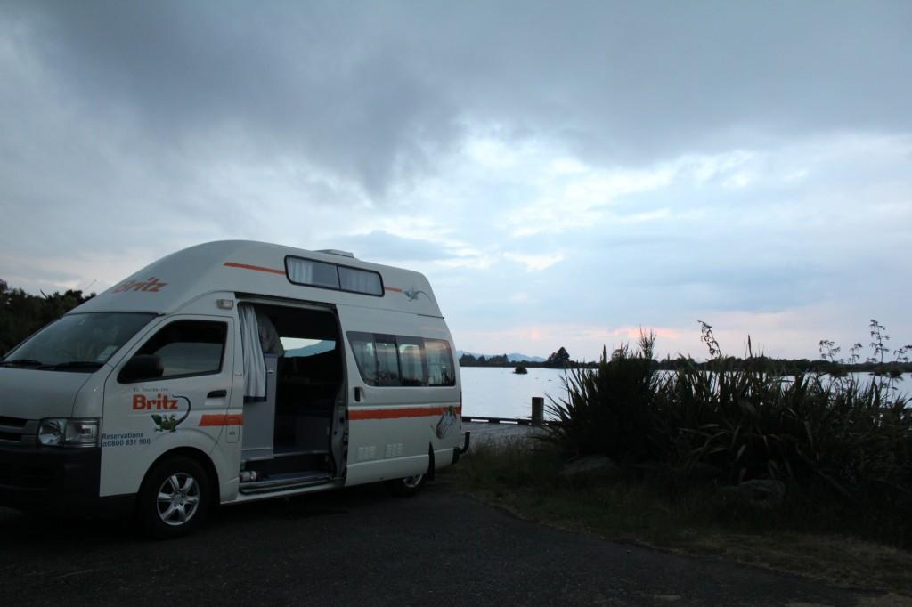 Nuit dans une zone désignée pour camper près de Taurangi
