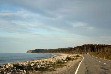 Route de la West Coast quelques dizaines de kilomètres avant Haast