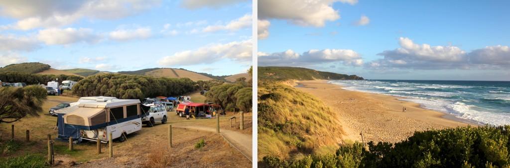 """Johanna Beach Campground"" près de Cap Otway"