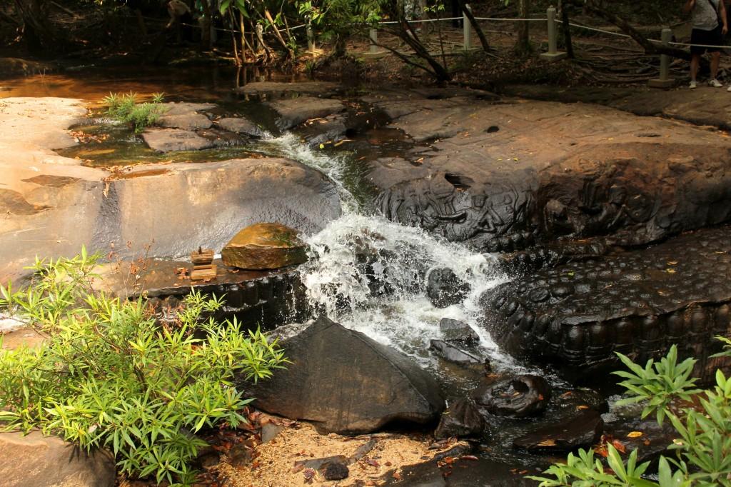 Lit de rivière sculpté de Kbal Spean