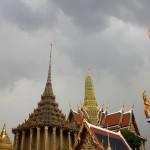Toits des temples entourant le palais royale