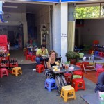 Cantine de rue à Phnom Penh