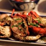 Plat de crabe avec sa sauce au poivre de Kampot