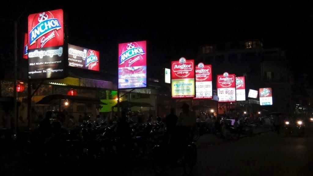 Enseignes des petits restaurants khmers