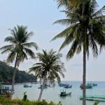 Bateaux de pêcheur au cap Ganh Dau
