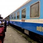 Arrivé à Hué avec le train SE4