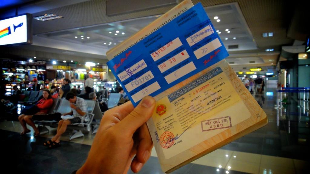 Carte d'embarquement Air Asia à l'aéroport de Hanoï