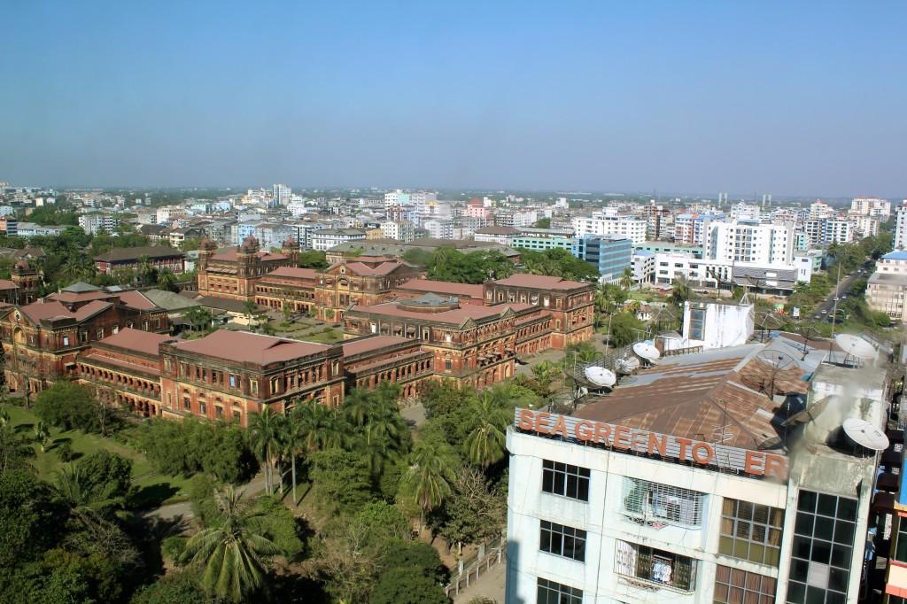 Yangon vue de la tour olympique