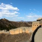 Un muraille toute restaurée moins sauvage à Jinshaling