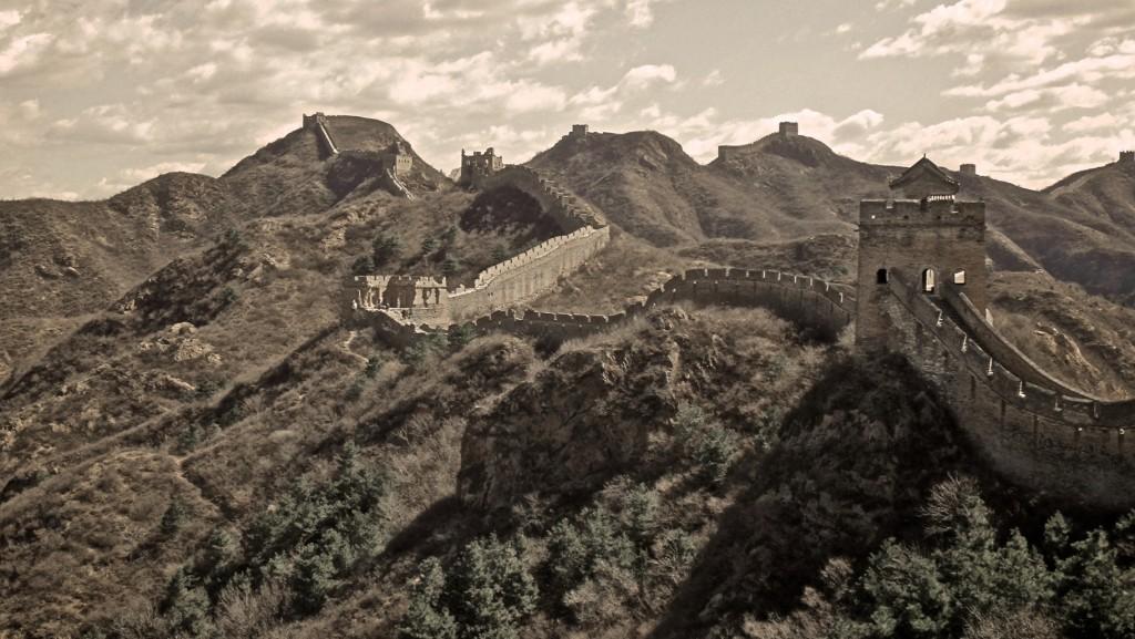 Impressionnant et émouvant paysage de la Grande Muraille de Chine