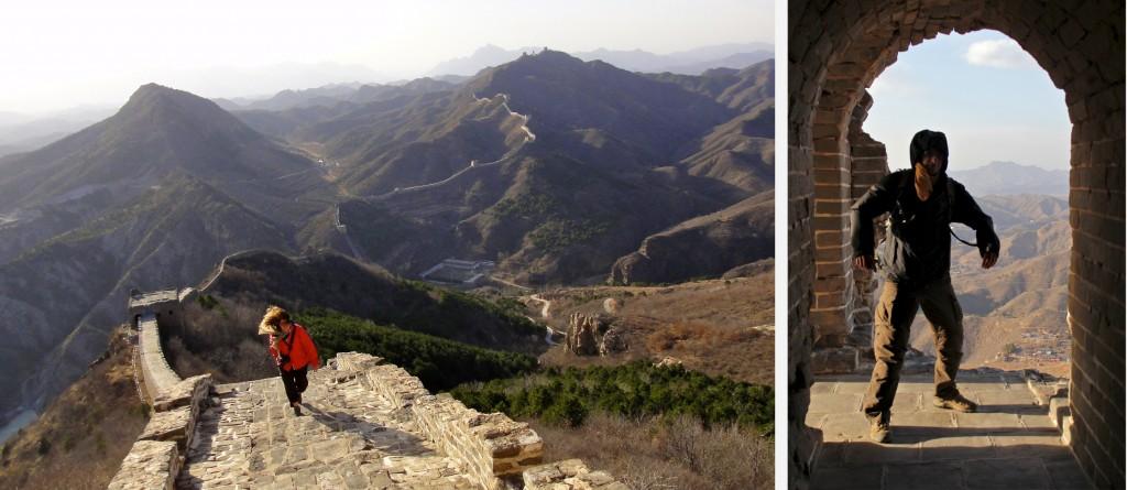 Nos premiers pas sur la Grande Muraille de Chine en plein vent