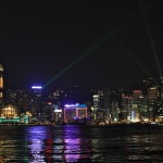 La valse des grattes ciels de Hong Kong (tous les soirs à 20h) depuis l'Avenue des Stars