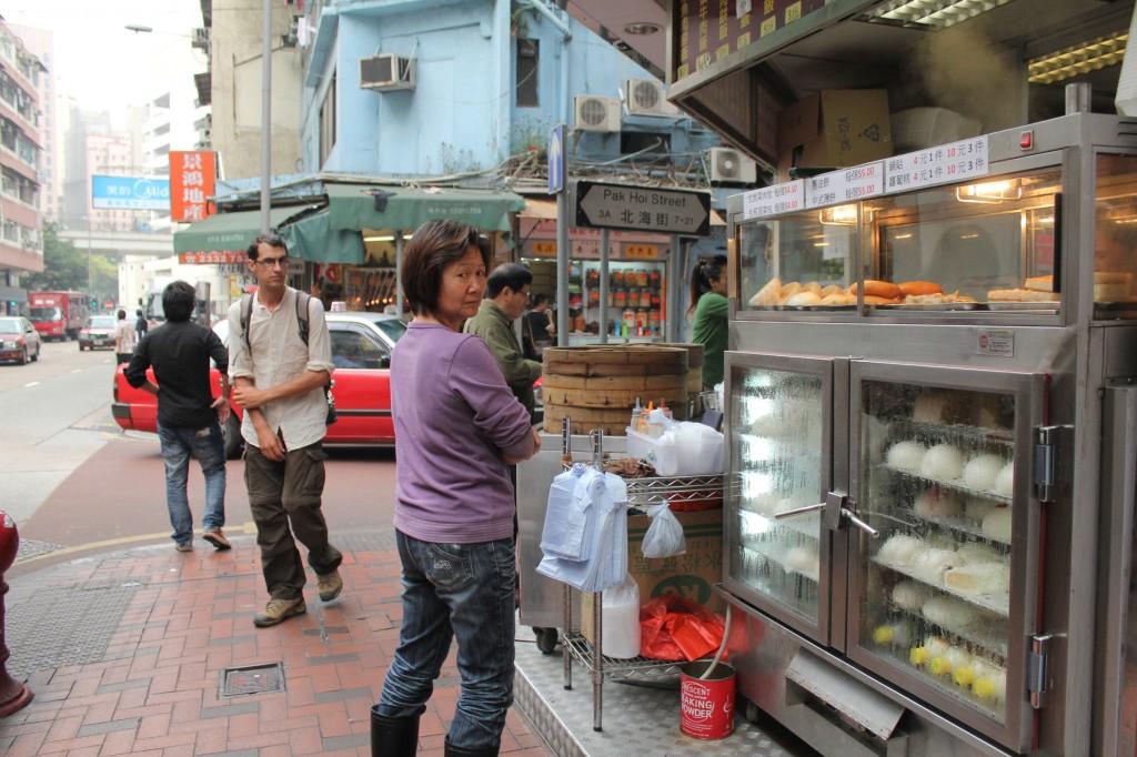 Marchand de rue à Hong Kong