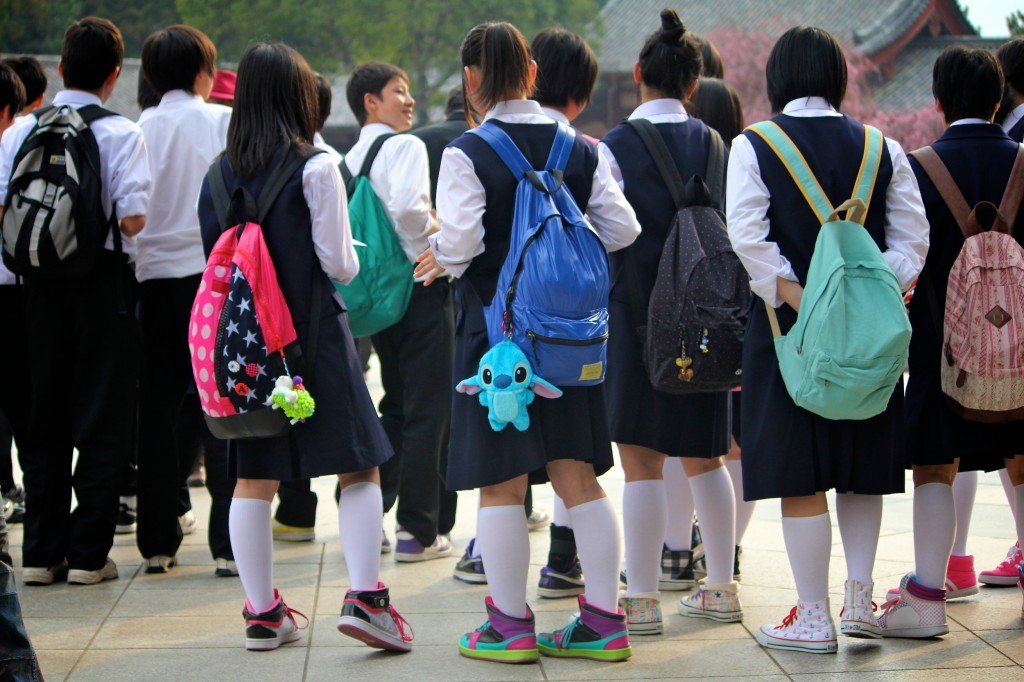 Panoplie vestimentaire des collégiens nippons