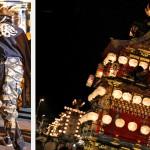 Procession des chars le soir du Sannõ Matsuri à Takayama