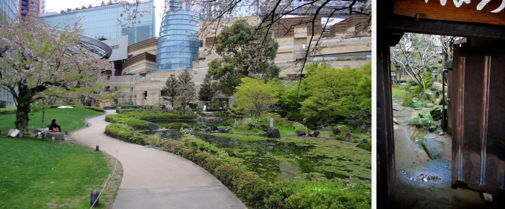 Jardin zen en pleine ville ou derrière les portes des maisons