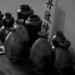Fioles ou tokkuris pour servir le saké