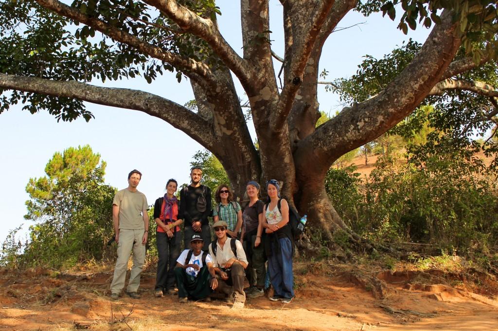Notre groupe de trekkeurs, tous voyageurs au long cours !