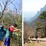 Ravitaillement des stands et hôtels dans la montagne par des porteurs surhumains