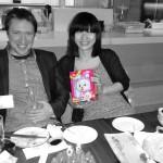 Au restaurant avec Sophie et Florent nos amis et hôtes à Shanghai