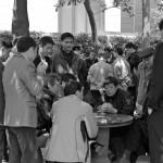 Joueurs de cartes dans le parc Jing An