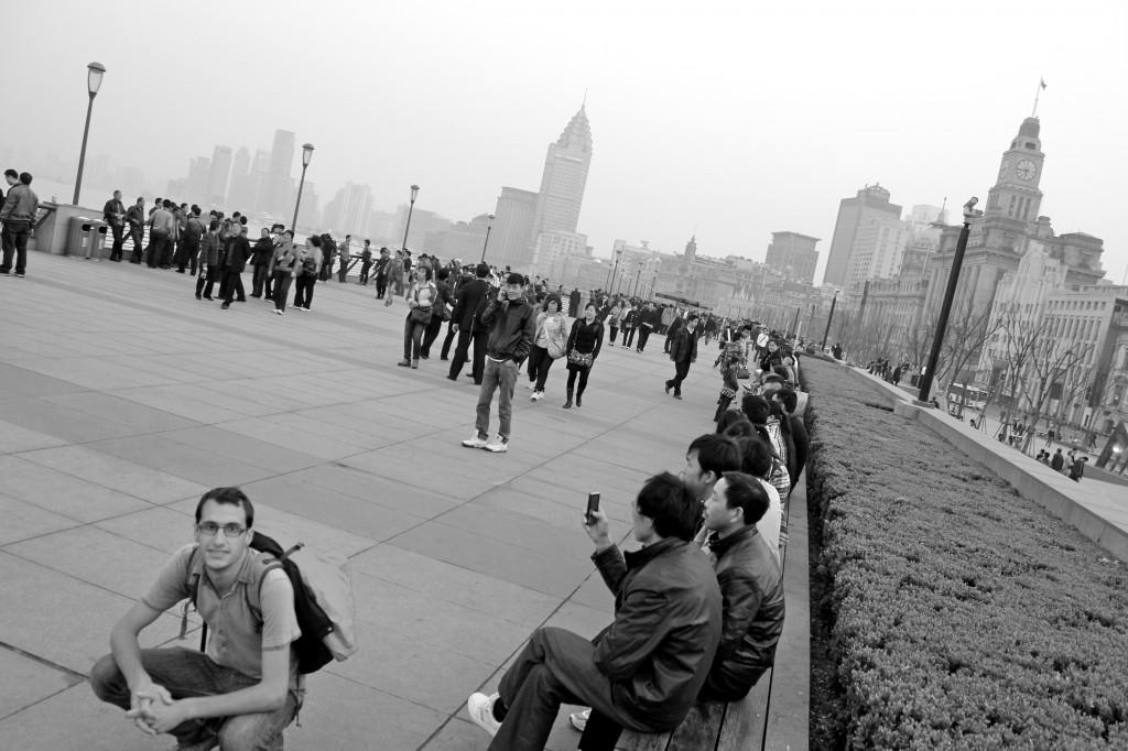 Promenade du Bund à Shanghai