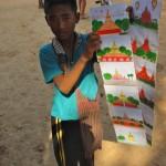 Petit vendeur de cartes postales