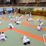 Cours de judo sur le dojo principal du Kodokan à Tokyo