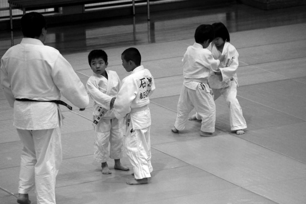 Judokas en herbes
