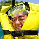 Première sortie snorkeling, petit problème technique !