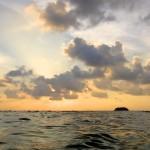 Coucher de soleil sur Lonely Beach