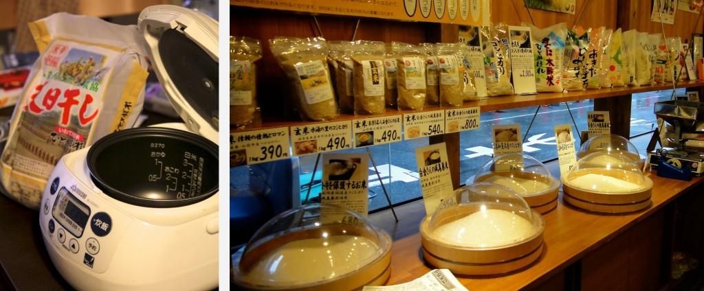 Autocuiseur et boutique de riz