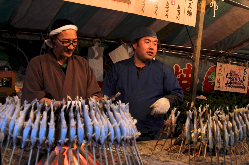 Stand de sardines grillées