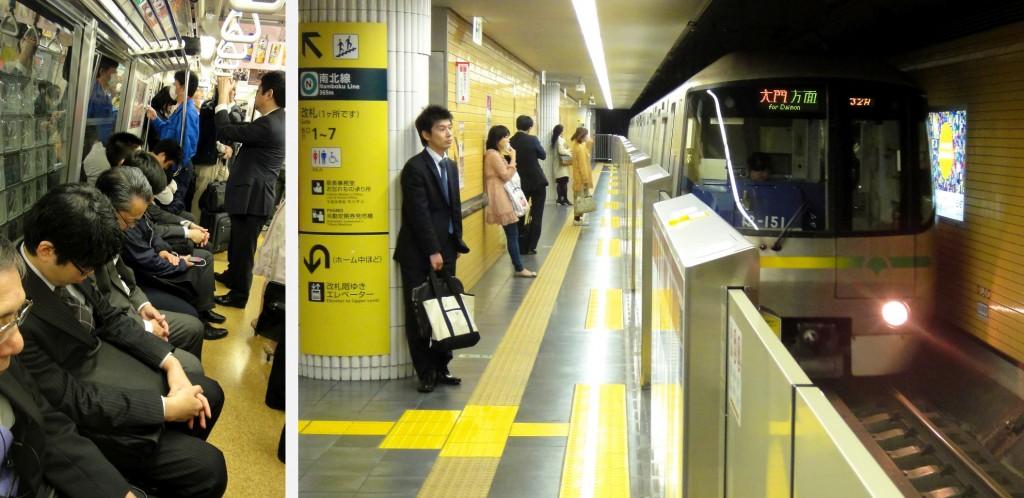 De bonne heure dans le métro de Tokyo...