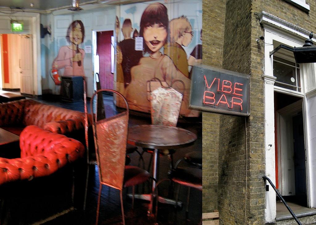 Au Vibe-bar à Brick Lane