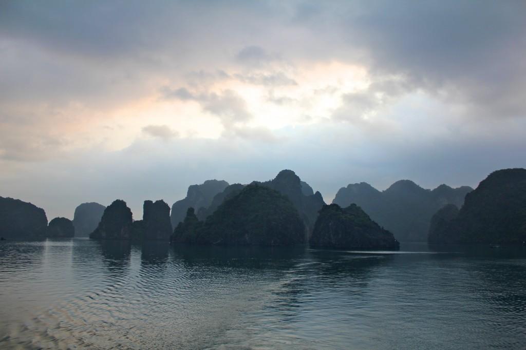 La magnifique baie d'Halong