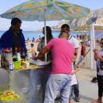 Granité artisanal sur la plage de Mondello