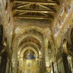 La cathédrale de Monreale à la tombé de la nuit