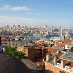 Vue sur les toits d'Istanbul, le bosphore et la Corne d'or