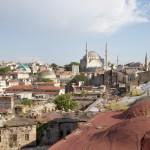 Les toits d'Istanbul depuis le Valide Han