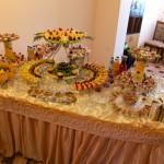 Buffet chez le mariés