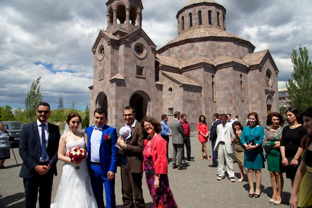 Séance photos après la cérémonie