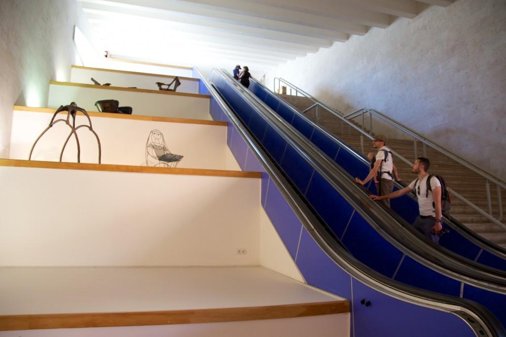 Galerie d'art contemporain dans la Cascade