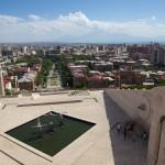 Yerevan vue depuis la dernière terrasse de la Cascade
