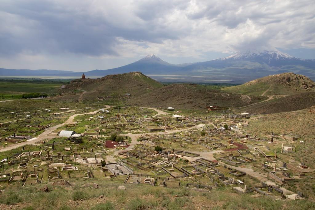 Khor Virap devant le mont Ararat